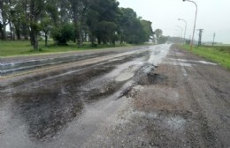 Roturas en el pavimento de la Ruta 188 a menos de tres meses de su arreglo