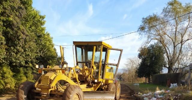 El Municipio ejecutó trabajos de mantenimiento en calles de Barrio La Loma