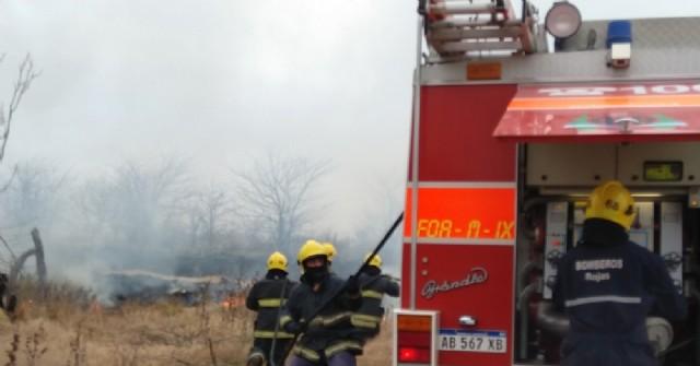 Los Bomberos debieron intervenir nuevamente por incendio de pastos de gran magnitud