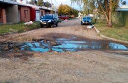 Aguas servidas en Barrio Mudynda