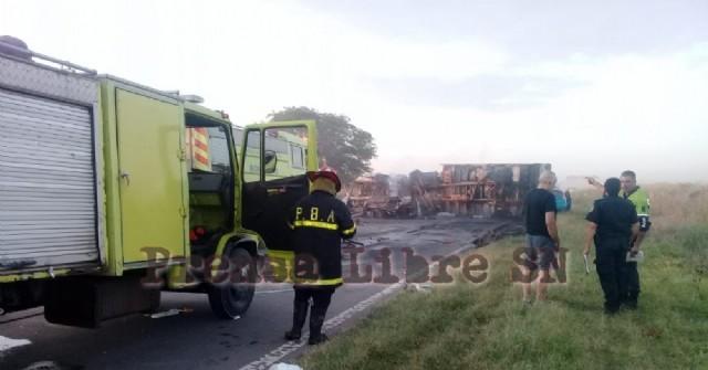 Fatal accidente en la Ruta 188 a la altura de General Rojo