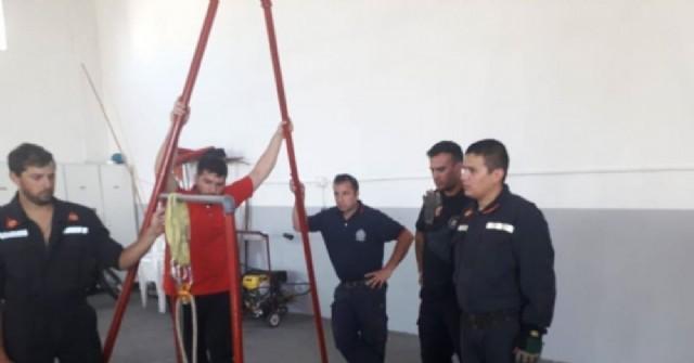 Bomberos Voluntarios de Rojas participaron de una capacitación en Ferré