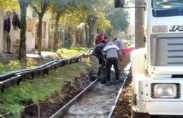 Avanzan obras de cordón cuneta en Santa Teresa