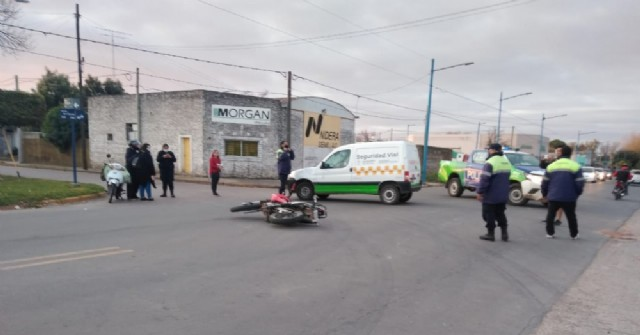 Accidente de motos en Tres de Febrero y Belgrano