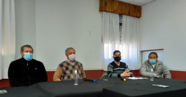 Conferencia de prensa de las autoridades tras el primer caso positivo en Rojas