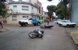 Ambos conductores fueron trasladados al Hospital.