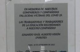 """Descubrieron placa en homenaje a Raúl """"Poroto"""" Verón"""