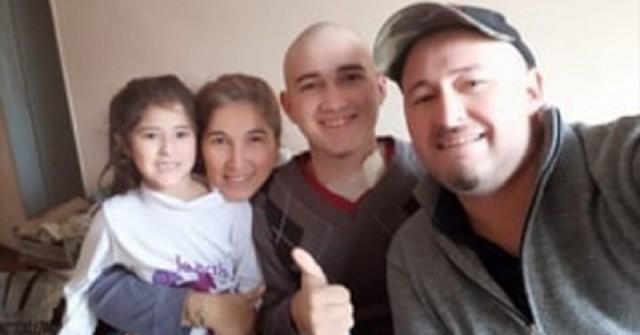 Dieron el alta médica al joven rojense Sebastián Barroso