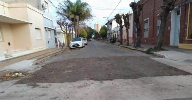 Arreglaron pozos en calles céntricas