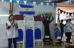 Reciente festejo patrio en la Escuela Especial.