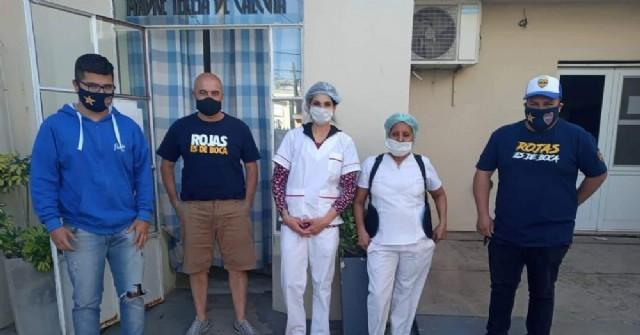 La Peña Rojas es de Boca realizó donaciones al Hospital y al Hogar Madre Teresa de Calcuta