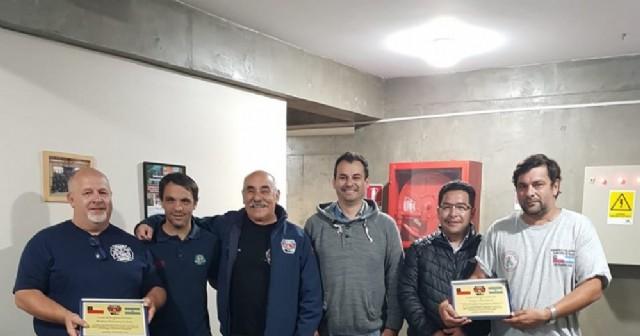Los Bomberos Voluntarios de Rojas están finalizando su estadía en Chile