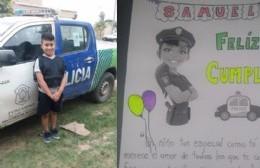 Buen gesto de la Policía de Pergamino: cumplieron el sueño a un niño en su cumpleaños