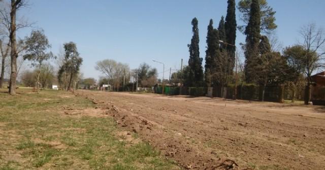 Finalizó el desmonte en la calle Luis Dorrego de Barrio Santa Teresa