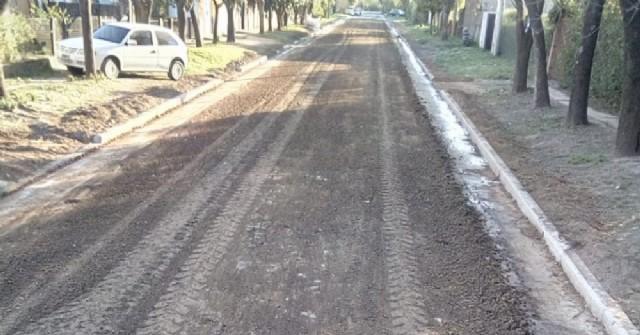 El Municipio finalizó trabajos sobre calle Mitre en Barrio Santa Teresa