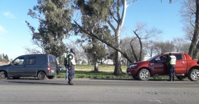 A cargo de la Policía Vial de Carabelas.