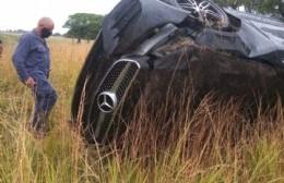 Despiste y vuelco en Ruta 31: un rojense con heridas leves