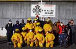 Hecho histórico: los bomberos de Rafael Obligado ya pueden entrar en acción