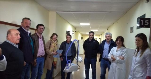 El Hospital municipal recibió importante donación gestionada por el Rotary Club Rojas