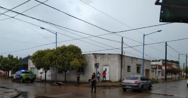 Accidente en la esquina de Italia y Colón