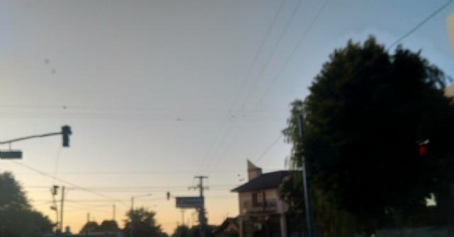 Semáforos fuera de servicio en la intersección de Tormey, Fuerte Federación y Necochea