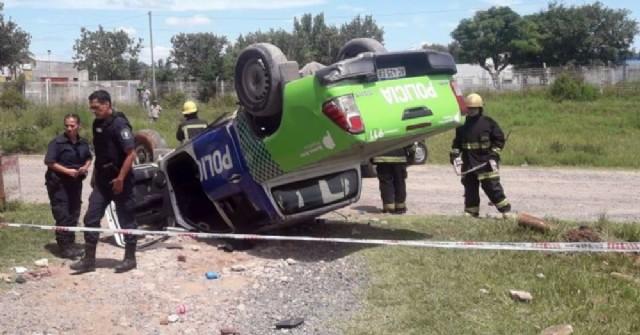 Dos agentes policiales de Rojas se accidentaron en Pergamino