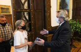 El presidente recibió a los padres de Ursula Bahillo