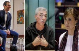 El intendente Pablo Petrecca, el ex jefe comunal Mario Meoni y la diputada Rocío Giaccone en pleno juego de cara al 2019.