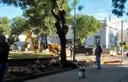 Comenzaron obras de remodelación en la Plazoleta de la Juventud