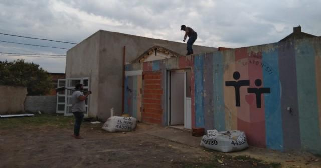 La colocación del techo nuevo en la sede del CEATDI estaría lista en los próximos días