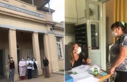 Avanza la vacunación del personal de salud en el Hospital Unzué