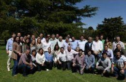 Referentes de Cambiemos reunidos en San Nicolás.