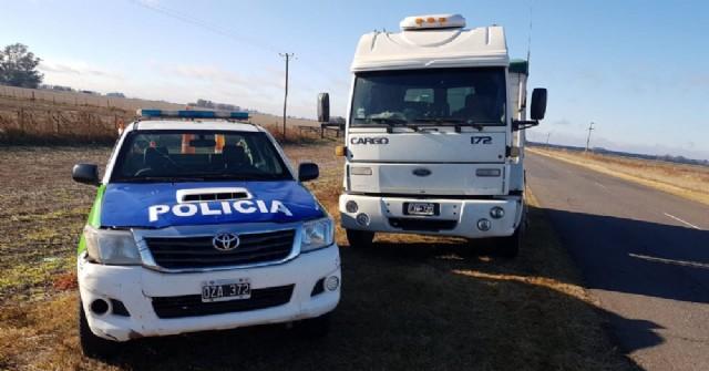 Encuentran camión robado a la vera de la Ruta 31