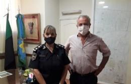 Rossi recibió a la flamante jefa de la Policía Comunal