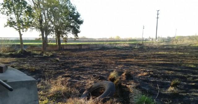 Los Bomberos debieron intervenir en un nuevo incendio de pastizales