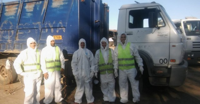 Los recolectores de residuos recibieron equipamiento de protección para su salud