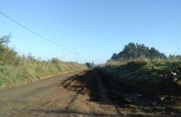La Municipalidad realizó tareas de mantenimiento en el camino al basural