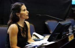 La diputada provincial del Frente Renovador en el FdT, Micaela Moran.