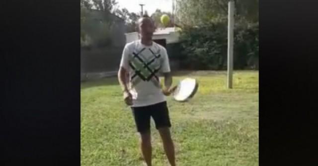 Padel Rojas también entrena en casa