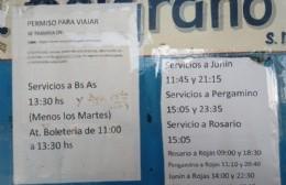 Volvió a funcionar el servicio de transporte de la empresa Pullman General Belgrano