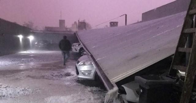 La ciudad de Pergamino fue arrasada por una lluvia de granizo