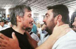 Junto a Máximo Kirchner.