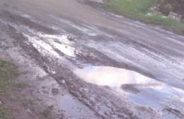 Calles en mal estado en La Loma