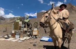 El payador rojense Nicolás Membriani cruzó los Andes a caballo