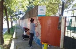 Comenzaron los trabajos de pintura en la Escuela N 3