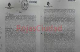El pedido para dejar en libertad al asesino de Claudia Colo, enviado el 6 de abril de 2017. (Foto: RojasCiudad)