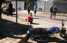 Fue protagonizado por una motocicleta y una camioneta.